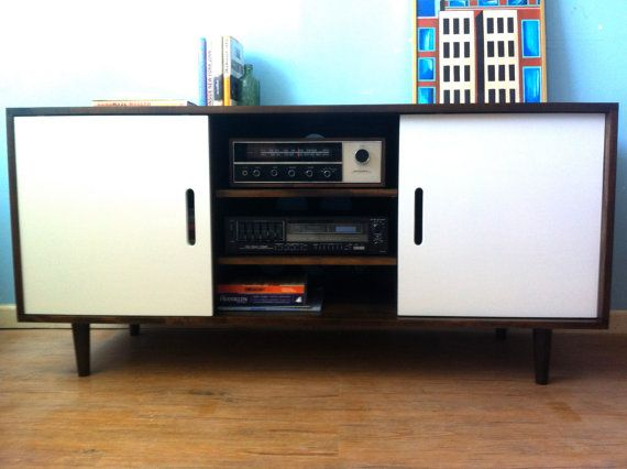 Kasse Media Credenza with Record Player Pull-Out by STORnewyork