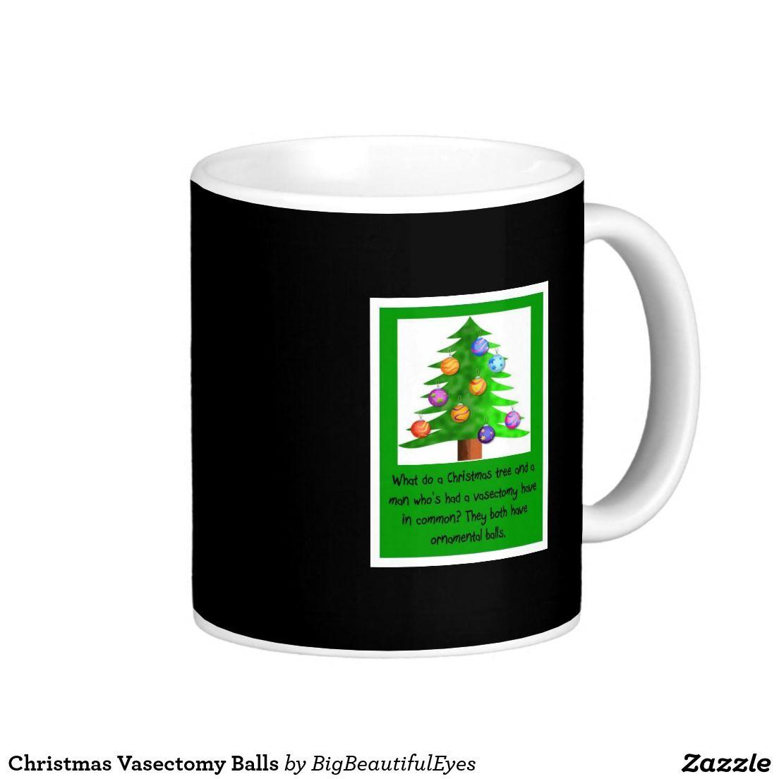 Christmas Vasectomy Balls Mug