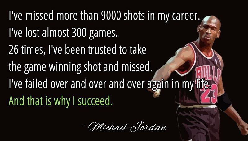 Failure is the Key to Success | Jordan quotes, Michael ...