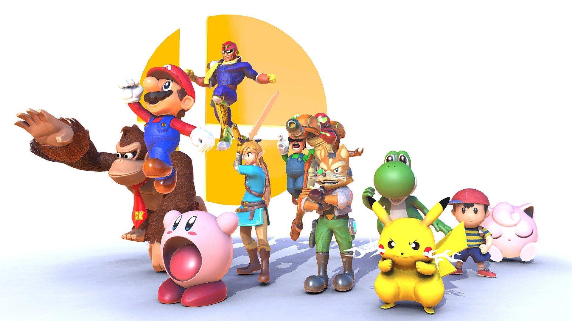Super Smash Bros The Original 12 By Giru Super Smash Bros 64 Cartoon Styles Super Smash Bros