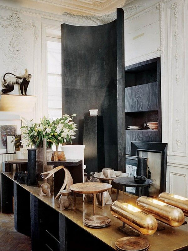 Inside rick owens  residence in paris with some of his own home furniture also barcelona style chair art pinterest interior design rh
