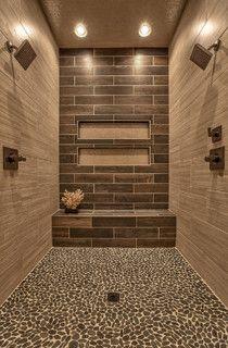 Street Of Dreams 2013 Falcone Homes Master Bathroom Shower Pebble Tile Shower Bathroom Remodel Shower