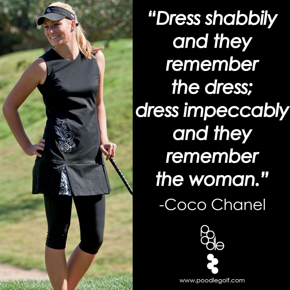 Little black dress black w scrolly black pleats golf quotes