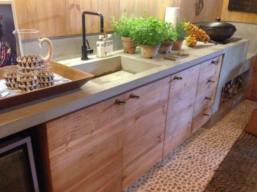 Ispira Ao De Cimento Queimado Na Cozinha Cozinha Cimento