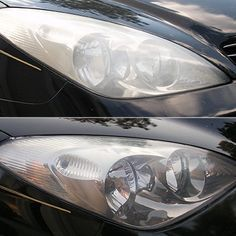 How to Clean Your Car Headlights.. look like a lot of work but it would be nice if it worked