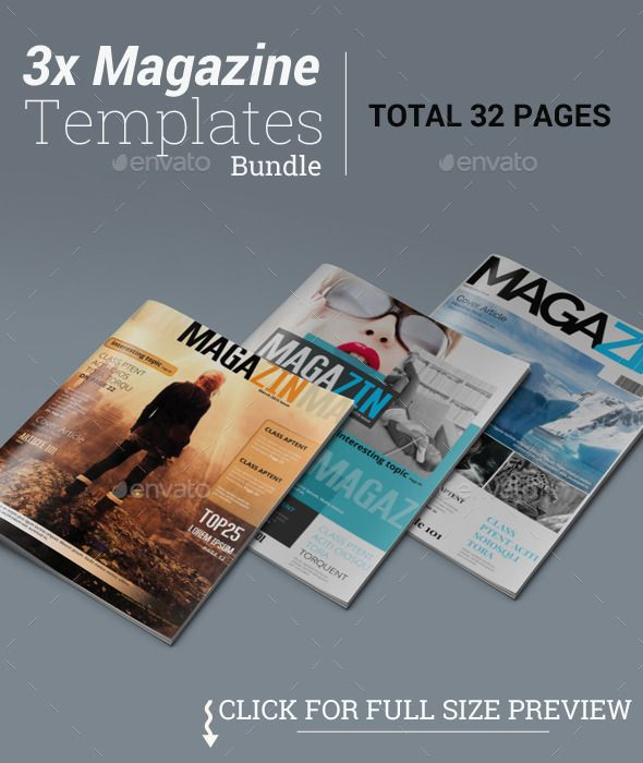 3x Magazine Templates Bundle