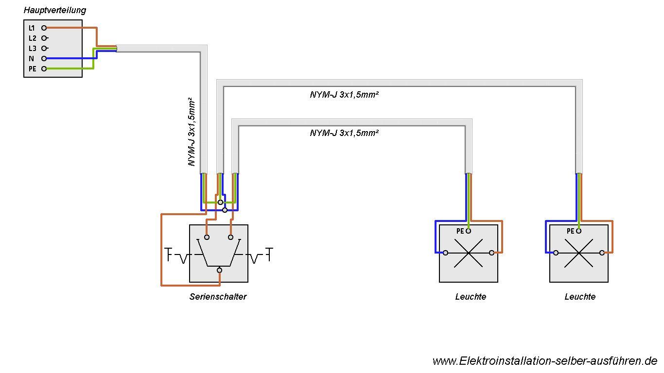 schaltplan einer serienschaltung nit zwei lampen elektrische schaltungen f r die. Black Bedroom Furniture Sets. Home Design Ideas