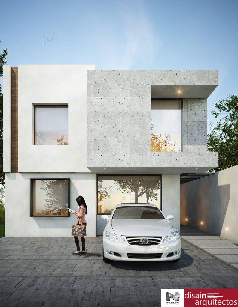 Casa kiambe novaterra casas de estilo por fran fachadas for Casas dos pisos modernas