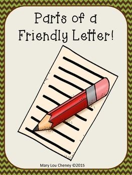 Parts Of A Friendly Letter Anchor Charts Letter Templates For The