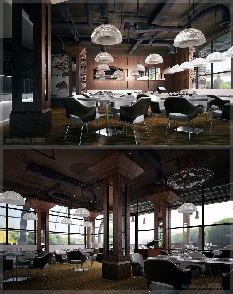 Restaurant Design Concepts Restaurant Interior Industrial Design Conceptarchjun