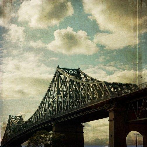 Bridge photograph JacquesCartier Montreal Landmark by janeheller