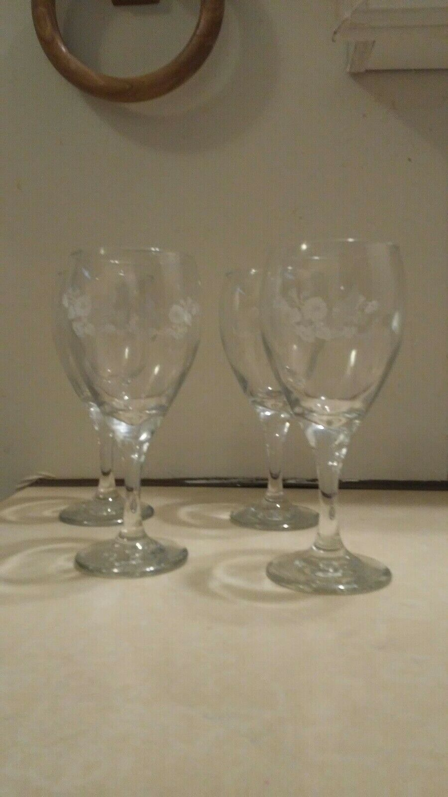 CLEAR WAFER STEM SET OF THREE LA ROCHÈRE DRAGONFLY WATER GOBLETS WINE GLASSES