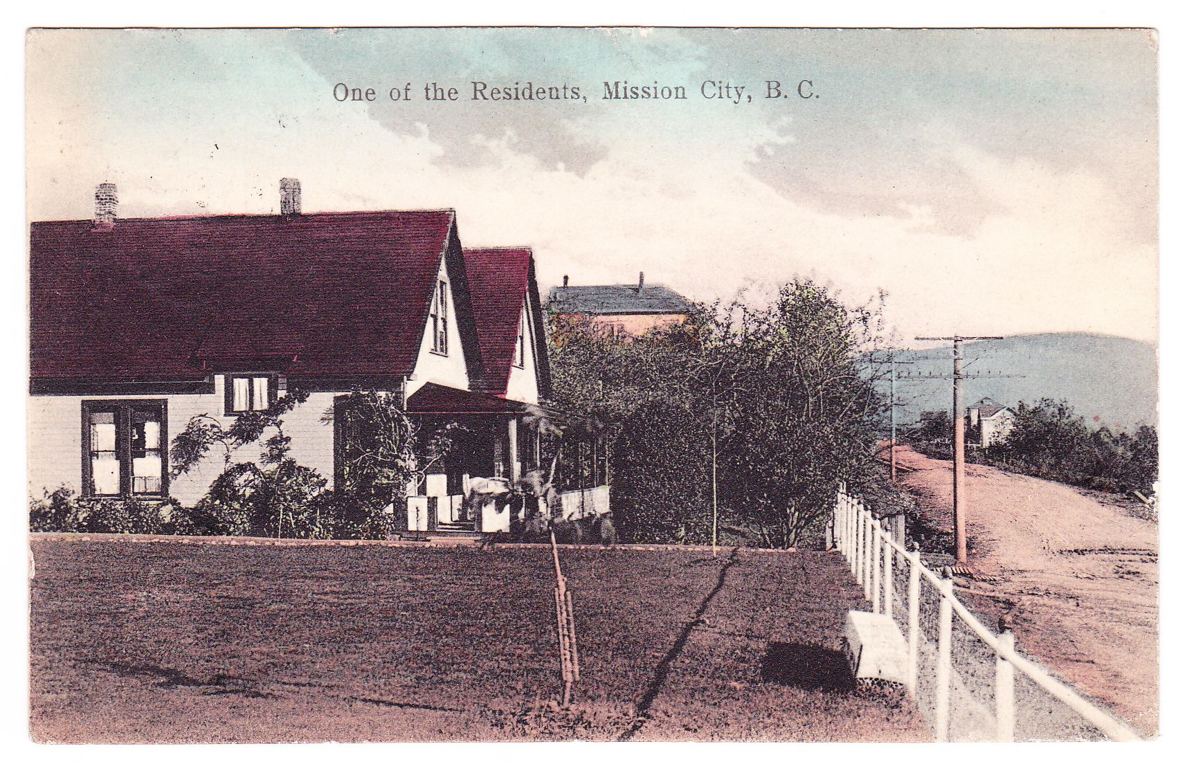 Bc mission city residential section c1916 ppc fraser