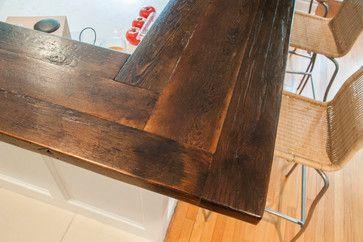 Reclaimed Pine Breakfast Bar Contemporary Wood Bar Top Bar Countertops Bar Tops Diy