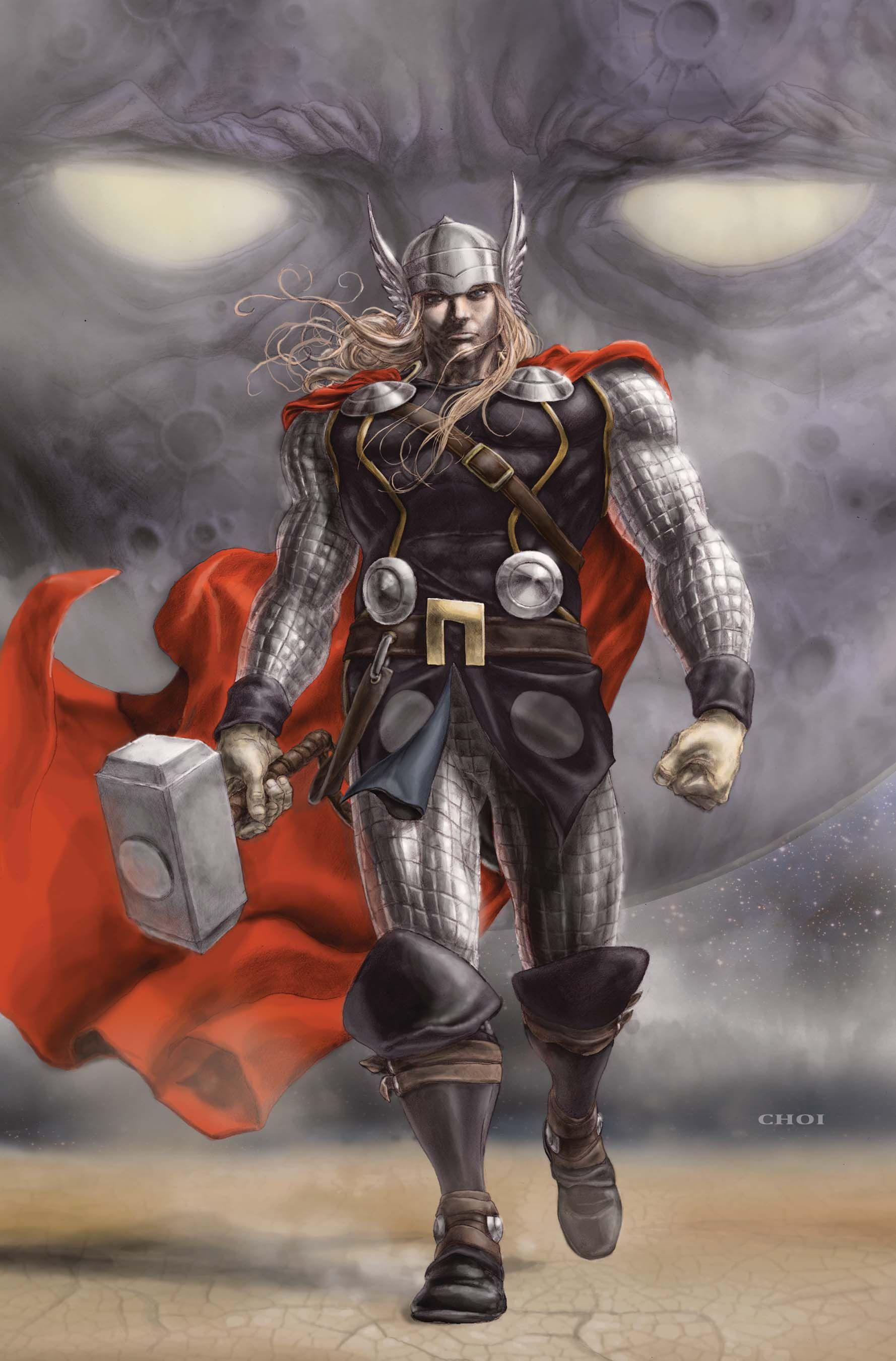 #Thor #Fan #Art. (Thor) By: Mike Choi. (THE * 5 * STÅR * ÅWARD * OF: * AW YEAH, IT'S MAJOR ÅWESOMENESS!!!™)[THANK Ü 4 PINNING!!!<·><]<©>ÅÅÅ+(OB4E)
