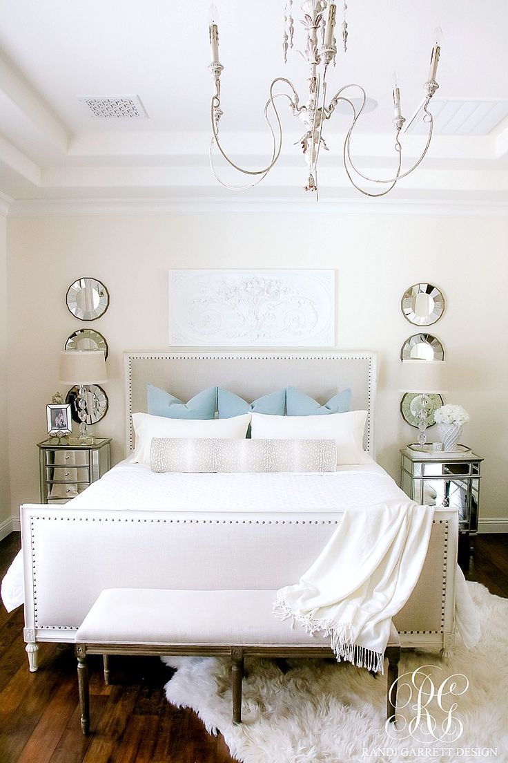 White master bedroom decor  Soothing Summer Home Tour   Neutral Transitional Home Decor