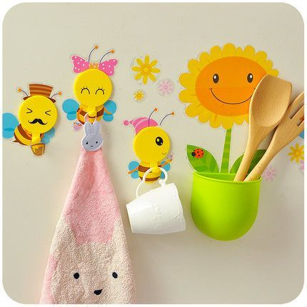 Silent love creative cute cartoon strong adhesive hook DIY w …