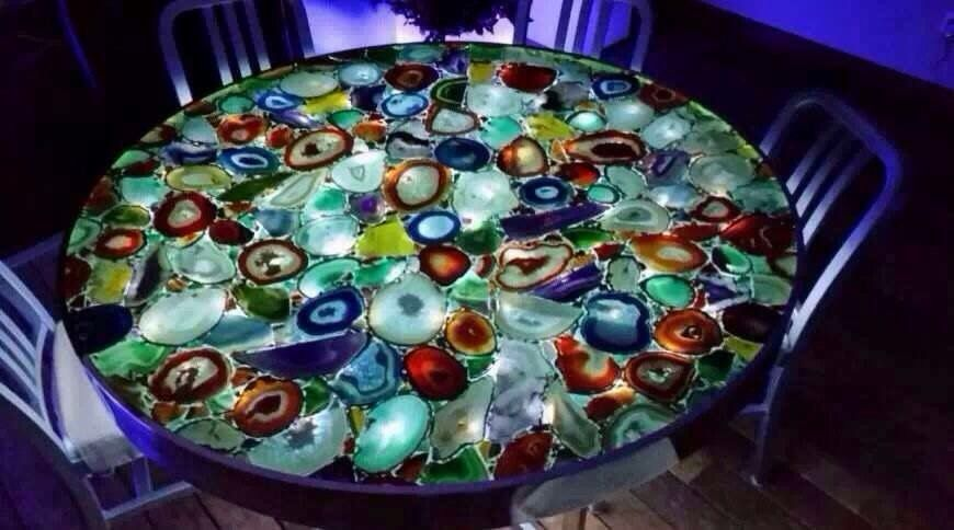 Stunning Multi Blue Agate Table What Do You Think
