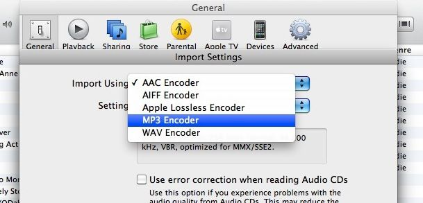 keeping mp3 files and converting m4a files to mp3 all in itunes