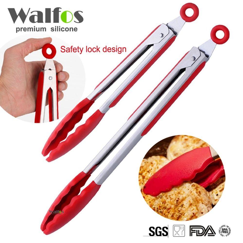 WALFOS food grade Silicone food tong 9\