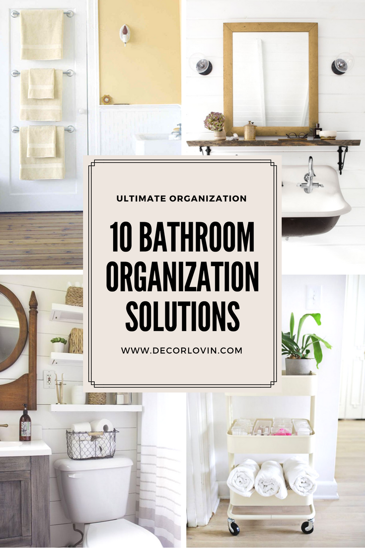 10 Bathroom Storage Ideas That Will Keep You Organized