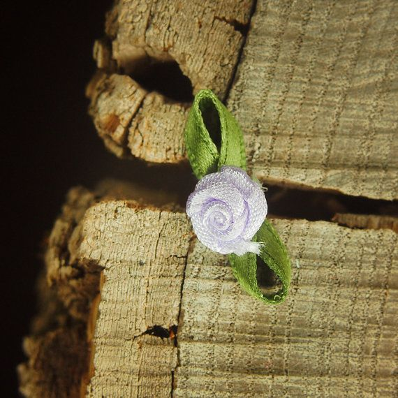 Ribbon Rose 3cm  Lilac  100 by Craft365.com ~US$4.90