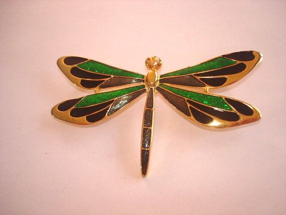 Dragonfly Multitone Jewelry Brooch by sanibelsands on Etsy, $16.99