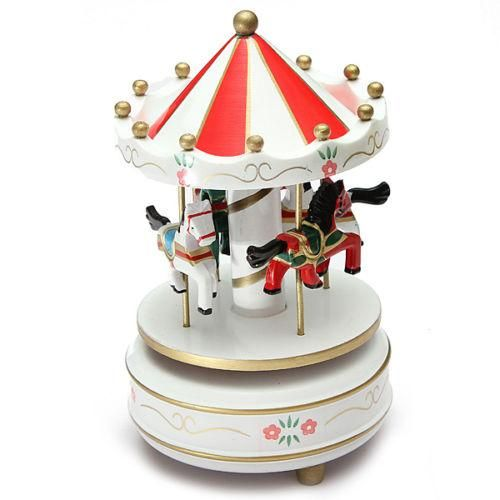 Merry-Go-Round Musical carousel horse wooden carousel music box toy