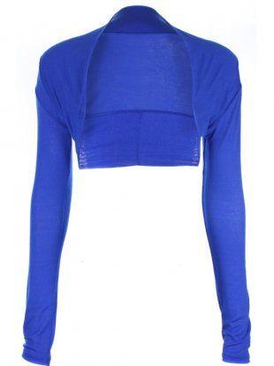 ff4f4c18e92fc Image detail for -long Sleeve Bolero Shrug In Royal Blue [royal blue bolero]  - £5.99 .