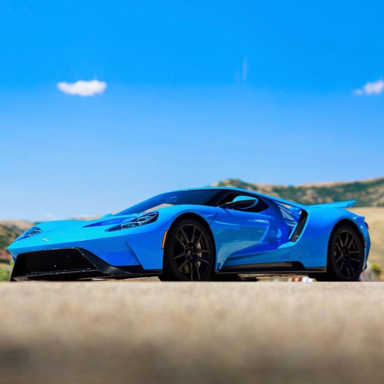 Ford Gt Painted In The Porsche Color Riviera Blue Photo Taken By
