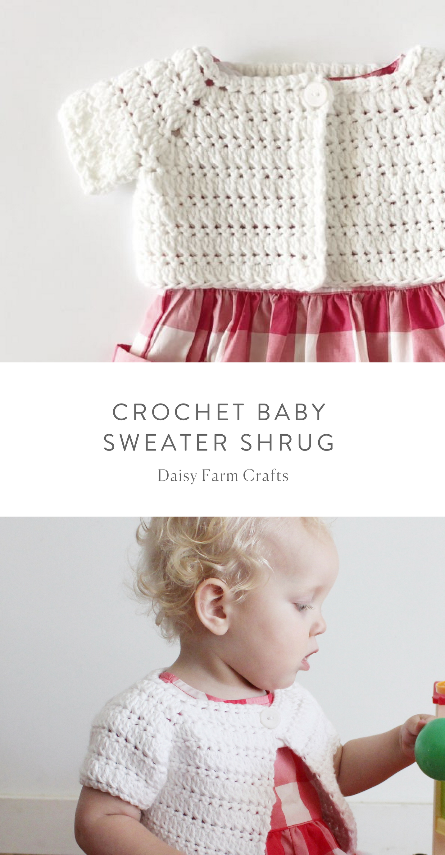 d58a967f3 Crochet Baby Sweater Shrug
