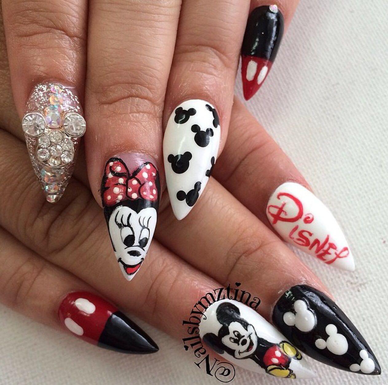 Mickey & Minnie Nails | Mickey nails, Minnie mouse nails ...