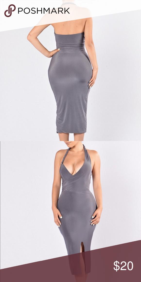Grey Dress Nwt Dresses Fashion Nova Dress Gray Dress