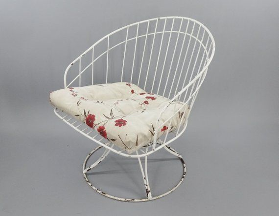Enjoyable Homecrest Wrought Iron Patio Chairs Mid Century Modern Bralicious Painted Fabric Chair Ideas Braliciousco