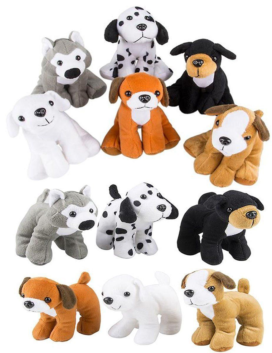 4e S Novelty Stuffed Plush Soft Dogs Animals Puppies Bulk Party