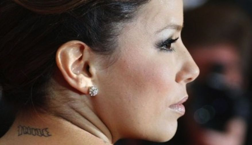 Eva Longoria Actress Eva Longoria Had Several Tattoos That She Got In Honor Of Her Then Husband Nba Star Tony Pa With Images Celebrity Tattoos Crazy Celebrities Tattoos