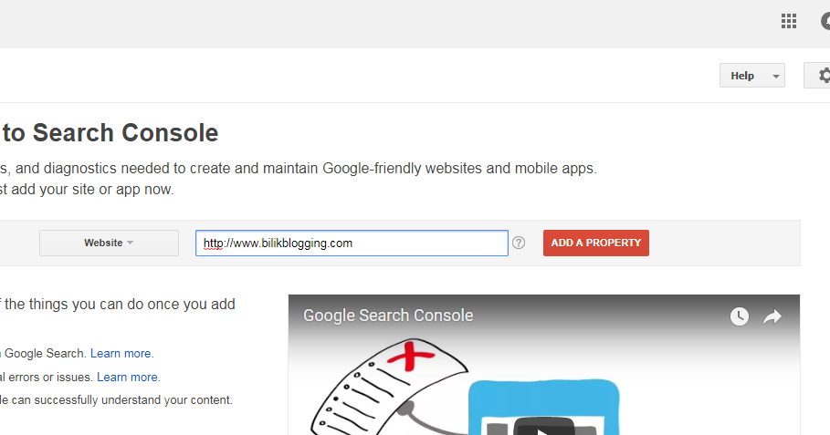 Cara Mendaftarkan Blog Di Google Webmaster Tool Blog Google