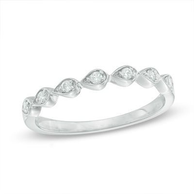 Zales 1/10 CT. T.w. Diamond Bubble Stackable Band in 10K Gold