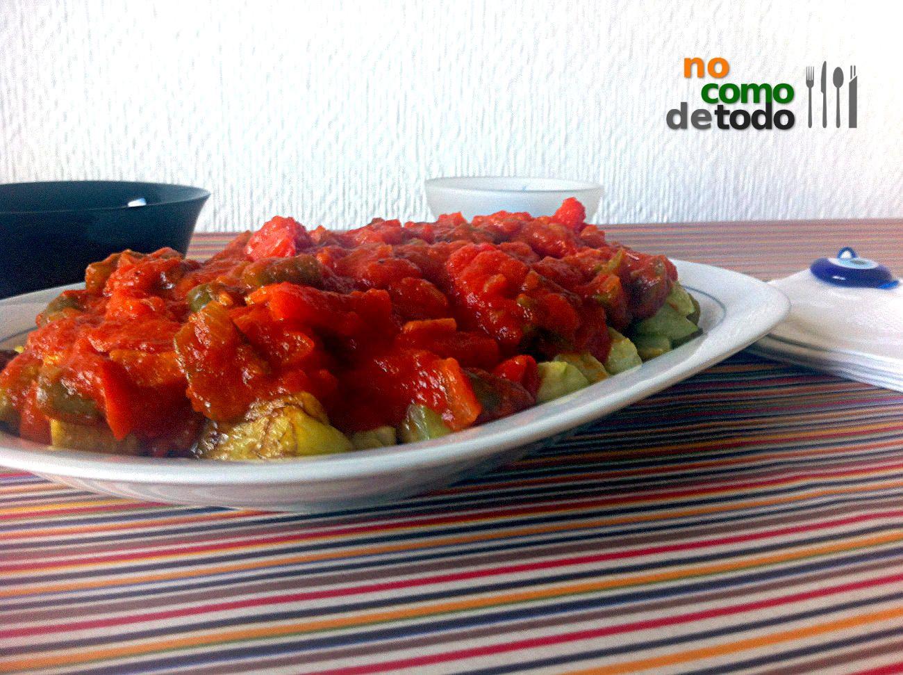 Plato turco de berenjena: Şakşuka - No como de todo