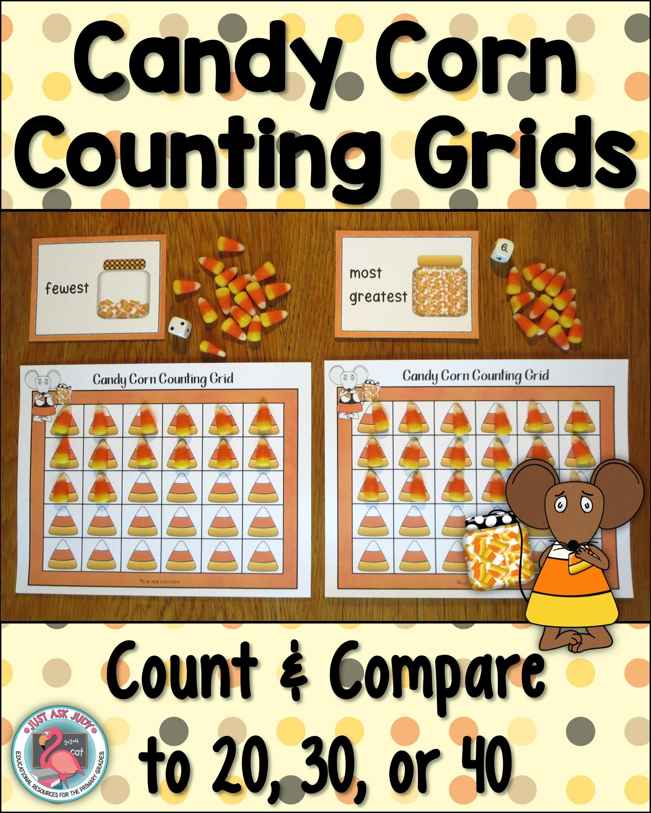 Count To 20 30 Or 40 Candy Corn Grids