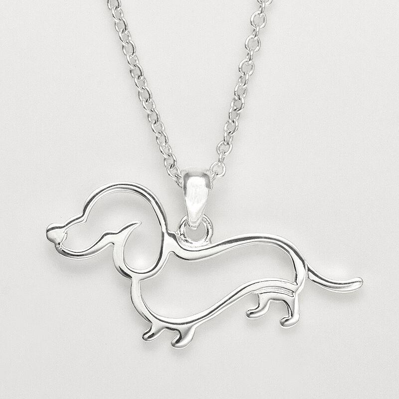 Silver Tone Simulated Crystal Dog Ring
