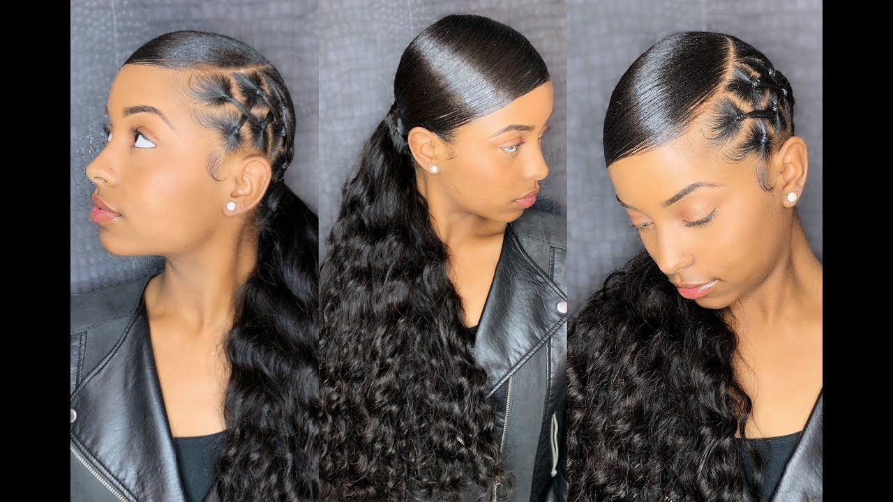 90 S Sleek Ponytail Reloaded Chrisscross Methy Video Sleek Ponytail Hairstyles Sleek Ponytail Hair Ponytail Styles