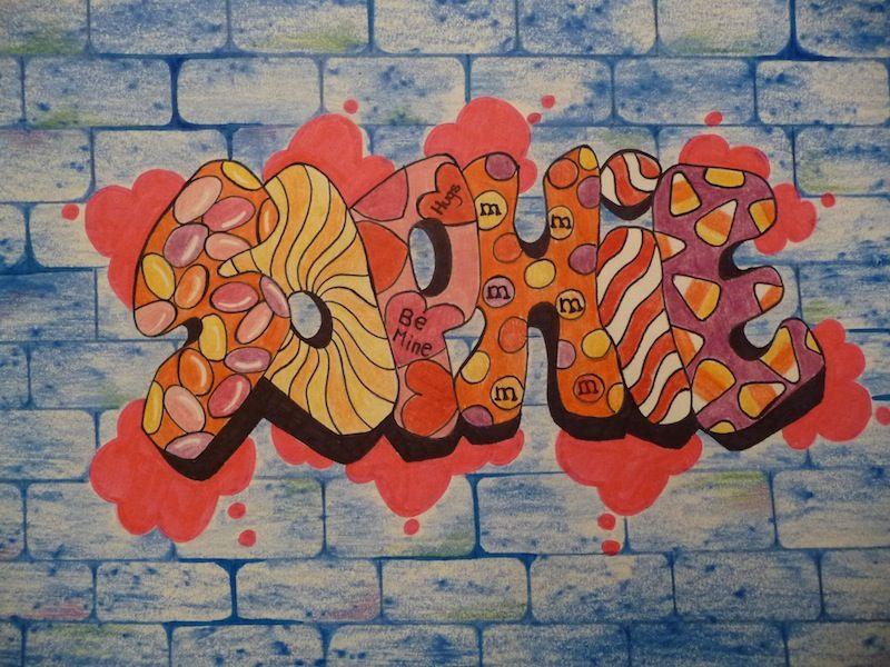 Designing A Graffiti Name Tag Growing Creative Kids Pinterest - Bedroom graffiti art for kids