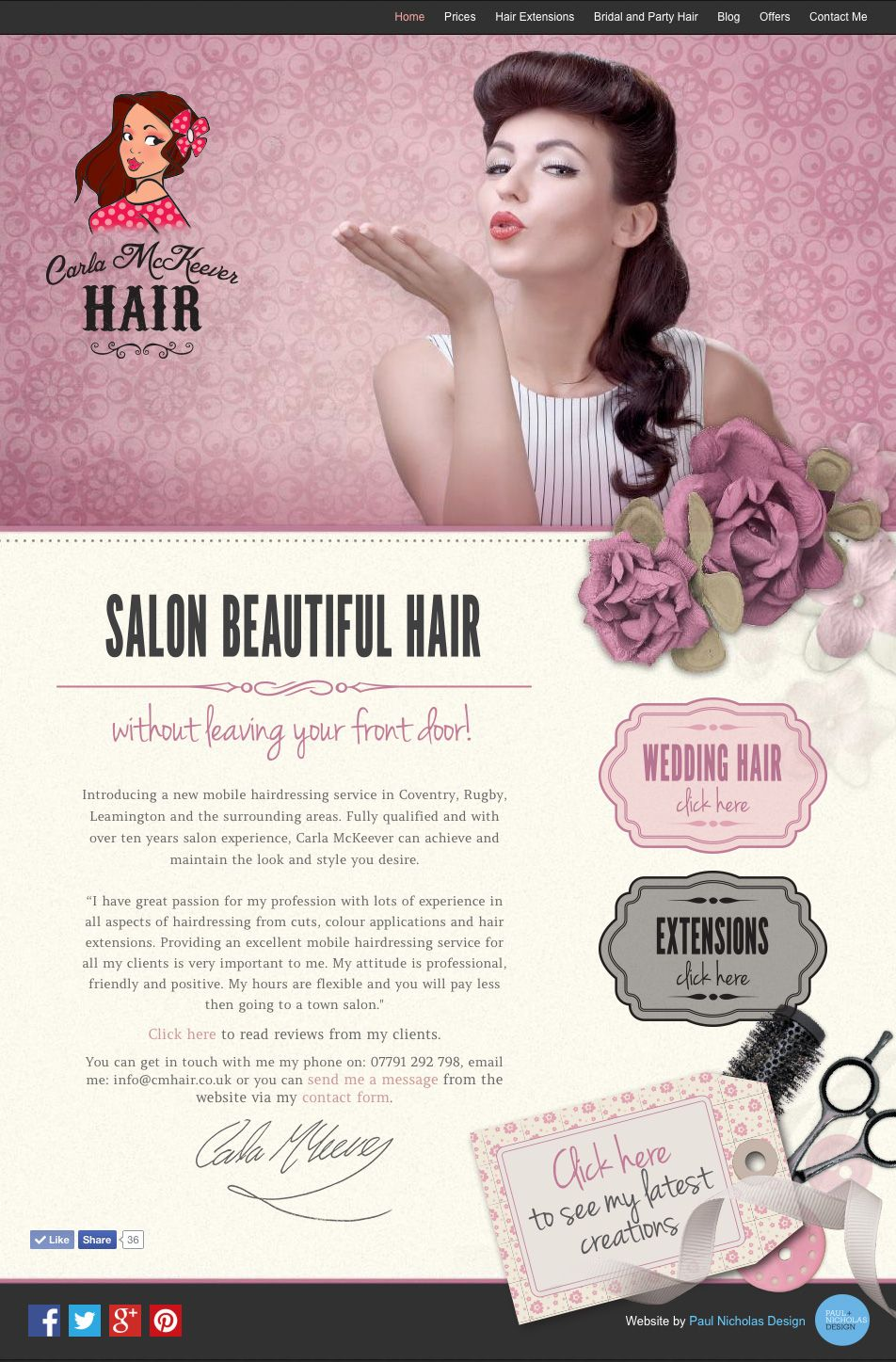Home page pin up 50s style website design for mobile hairdresser home page pin up 50s style website design for mobile hairdresser carla mckeever pmusecretfo Gallery