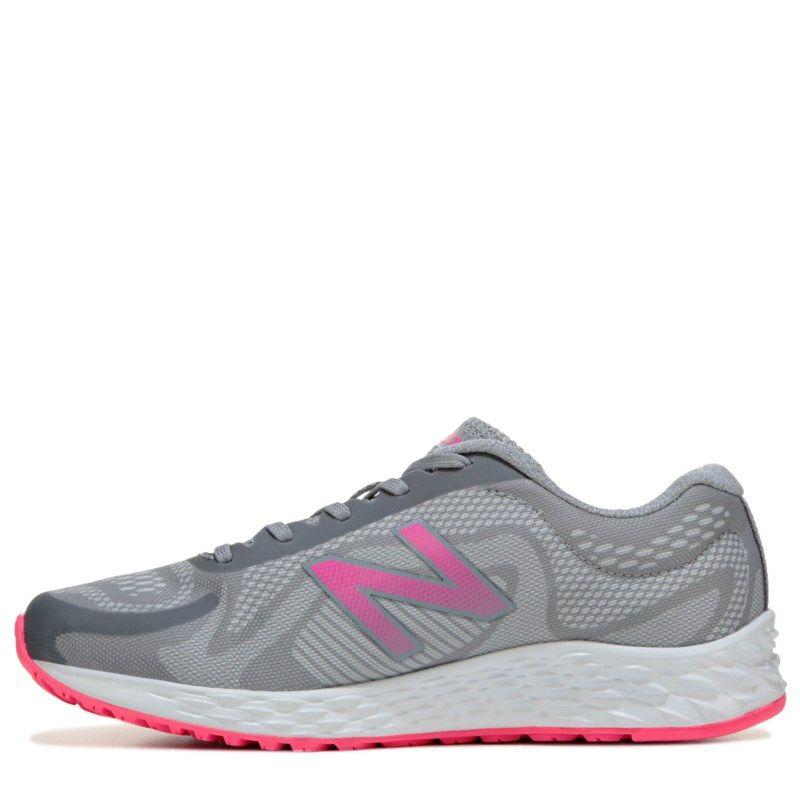 09cbc6ebf81c5 New Balance Kids' Arishi Medium/Wide Running Shoe Pre/Grade School Shoes ( Grey/Pink)