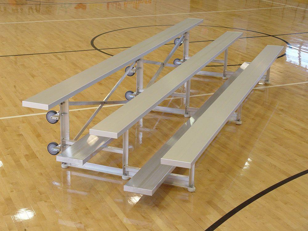 3 Row Tip And Roll Aluminum Bleachers Bench Bleacher Seating Bleachers Aluminum