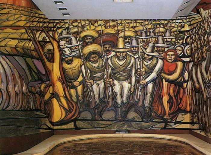The Revolution Mural David Alfaro Siqueiros Wikiart Org Mexico Art Frida And Diego Art