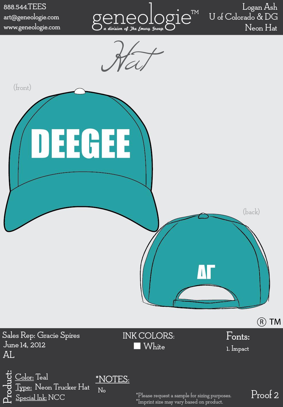 Delta Gamma Cu Boulder Deegee Hat Delta Gamma Trucker Hat Hats