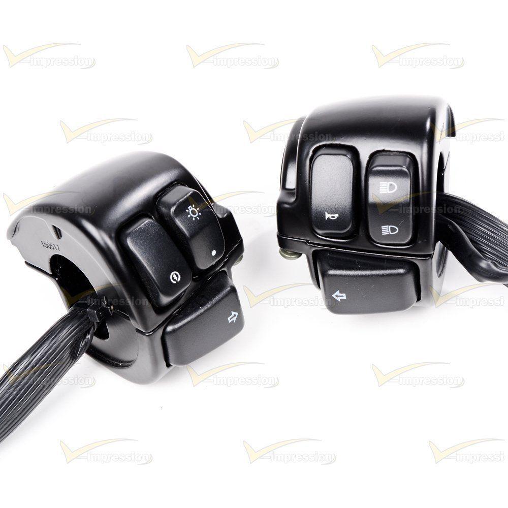 2x Motorcycle 1 Handlebar Control Switch Black Wiring Harness For 96 12 Harley Handlebar Motorcycle Handlebar Harley