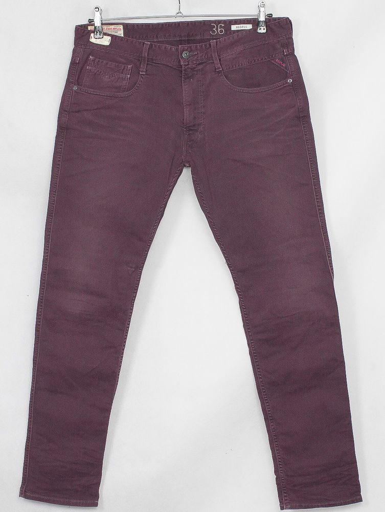 5326e8a8 HERREN REPLAY M914 ANBASS HOSEJEANS JEANS W36 L32 SLIM FIT TAPERED ...